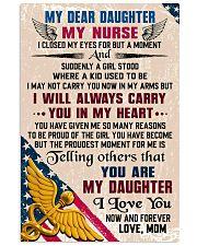MY DEAR DAUGHTER - Nurse 16x24 Poster front