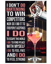 Bartender I DON'T DO TO WIN COMPETITION  11x17 Poster front