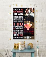 Bartender I DON'T DO TO WIN COMPETITION  11x17 Poster lifestyle-holiday-poster-3