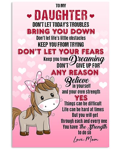 HORSE  - DON'T LET TODAY'S TROUBLES POSTER
