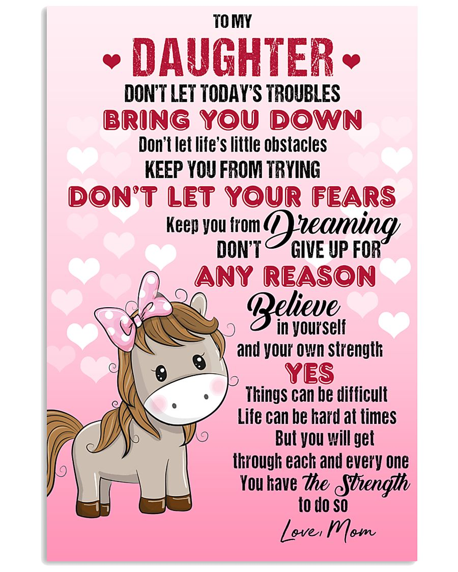 HORSE  - DON'T LET TODAY'S TROUBLES POSTER 11x17 Poster