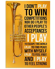 TRUMPET - I DON'T PLAY TO WIN COMPETITIONS 11x17 Poster front