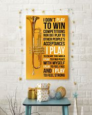 TRUMPET - I DON'T PLAY TO WIN COMPETITIONS 11x17 Poster lifestyle-holiday-poster-3
