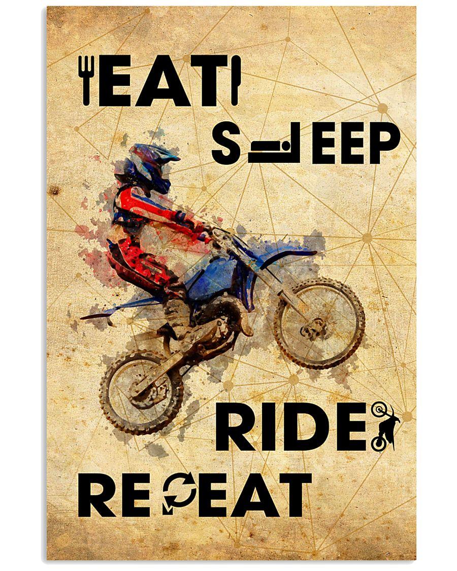 EAT SLEEP RIDE MOTOCROSS 11x17 Poster