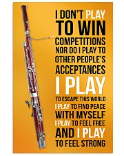 BASSOON - I DON'T PLAY TO WIN COMPETITIONS 11x17 Poster front