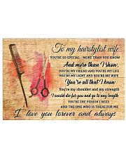 TO MY HAIRSTYLIST WIFE- I LOVE YOU FOREVER AND ALW 17x11 Poster front