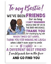 TO MY BESTIE WE'VE BEEN FRIENDS - NURSE POSTER 11x17 Poster front