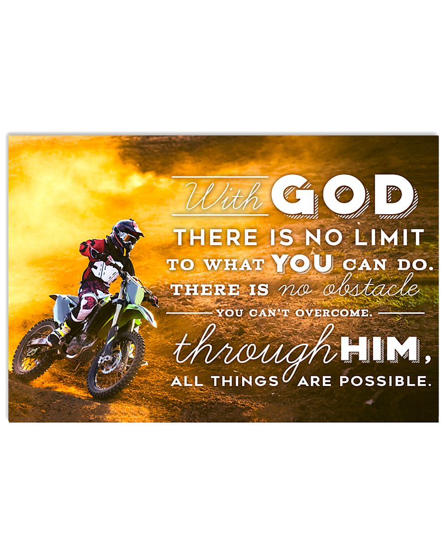 MOTOCROSS - WITH GOD 17x11 Poster
