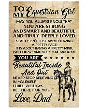 TO MY equestrian GIRL- DAD 16x24 Poster front