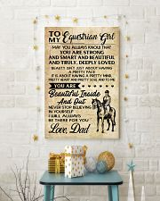 TO MY equestrian GIRL- DAD 16x24 Poster lifestyle-holiday-poster-3