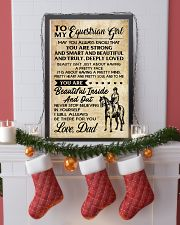 TO MY equestrian GIRL- DAD 16x24 Poster lifestyle-holiday-poster-4