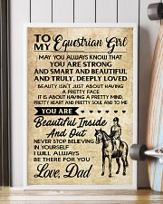 TO MY equestrian GIRL- DAD 16x24 Poster lifestyle-poster-4
