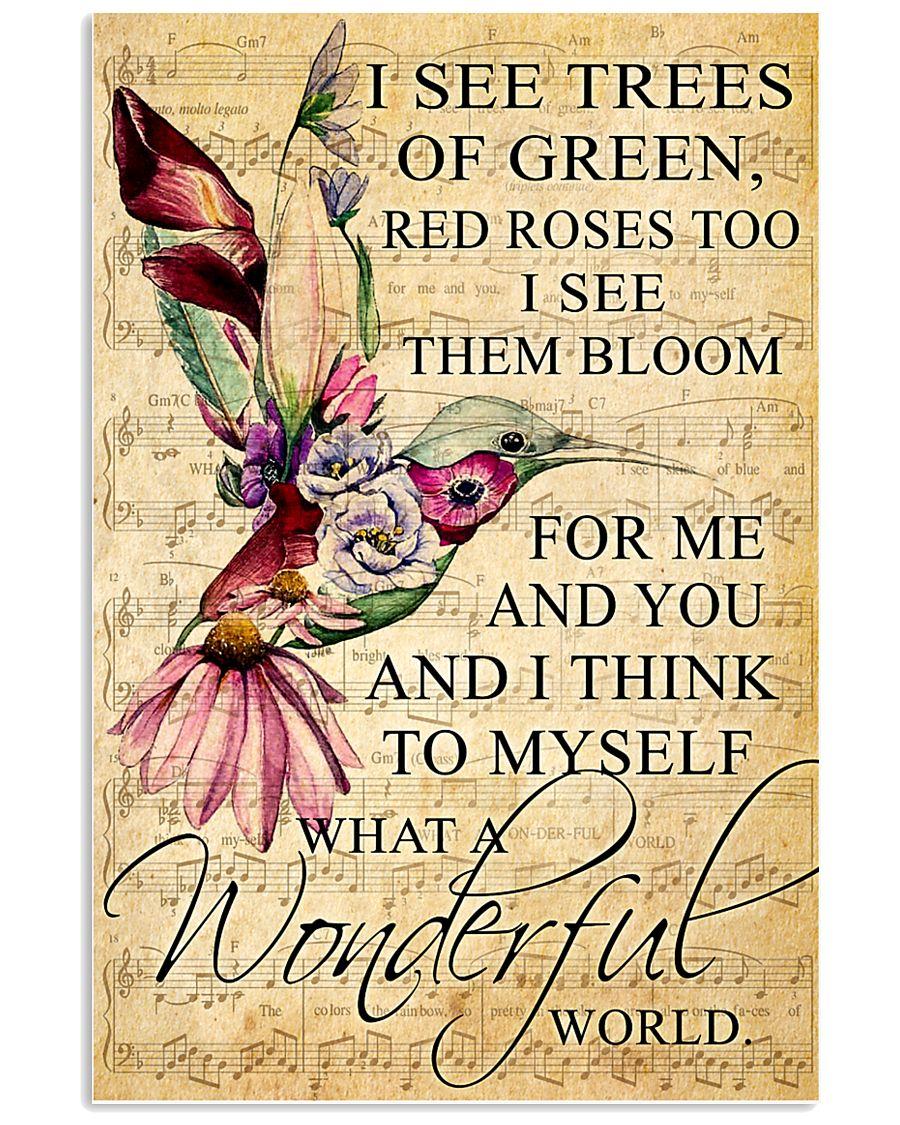 Hummingbird - Wonderful World Poster SKY 11x17 Poster