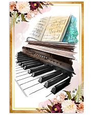 Piano Flower Watercolor Poster 11x17 Poster front