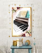 Piano Flower Watercolor Poster 11x17 Poster lifestyle-holiday-poster-3