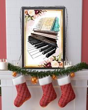 Piano Flower Watercolor Poster 11x17 Poster lifestyle-holiday-poster-4
