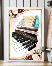 Piano Flower Watercolor Poster 11x17 Poster lifestyle-poster-4