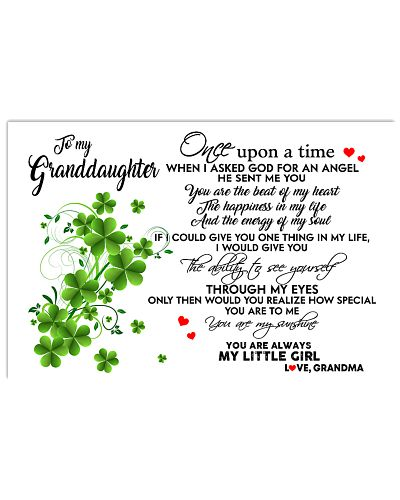 TO MY GRANDDAUGHTER- ONE UPON A TIME PILLOW