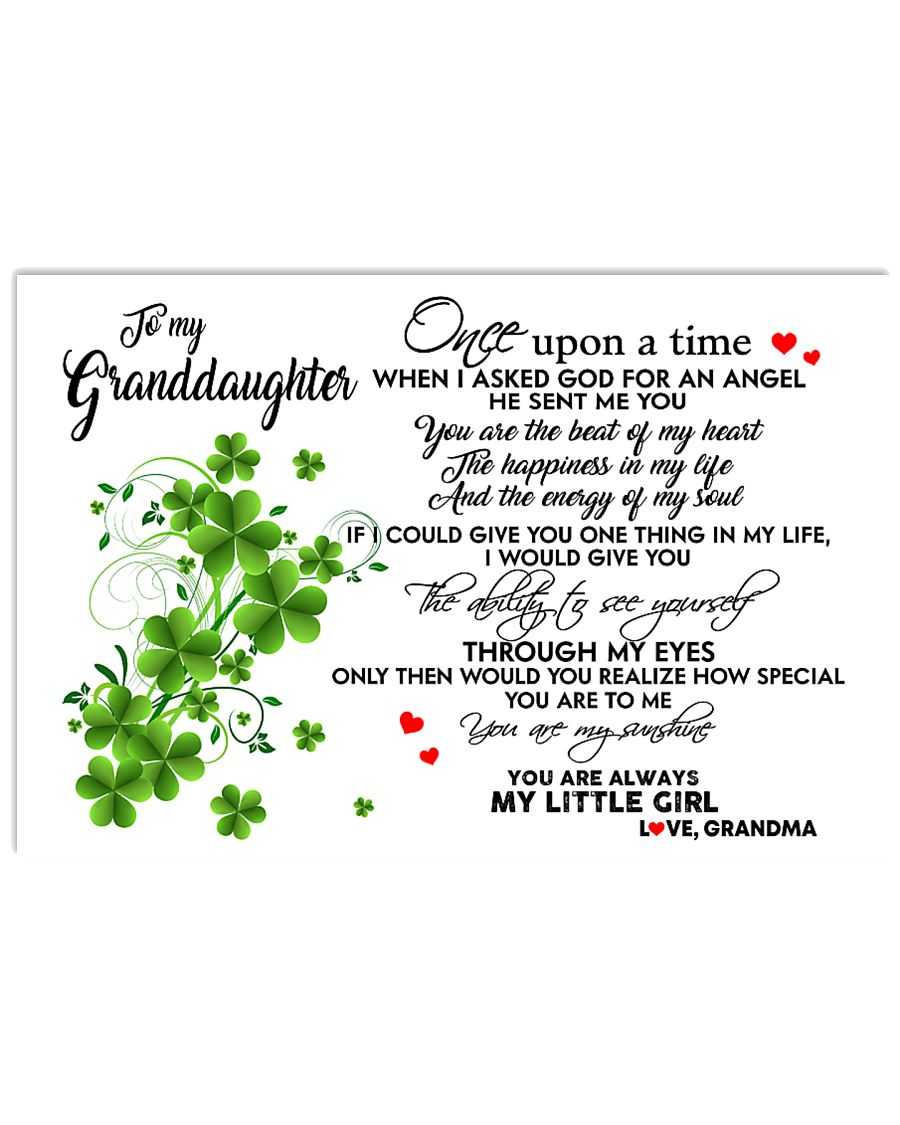 TO MY GRANDDAUGHTER- ONE UPON A TIME PILLOW 17x11 Poster