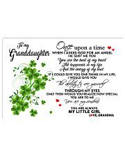 TO MY GRANDDAUGHTER- ONE UPON A TIME PILLOW 17x11 Poster front