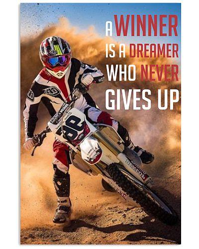 Motocross - A Winner Is A Dreamer Poster - SR