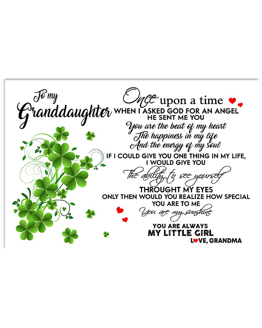 TO MY GRANDDAUGHTER- ONE UPON A TIME POSTER 17x11 Poster
