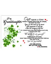 TO MY GRANDDAUGHTER- ONE UPON A TIME POSTER 17x11 Poster front