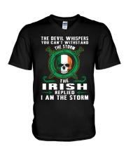 the storm V-Neck T-Shirt tile