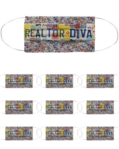 realtor diva license plates mask