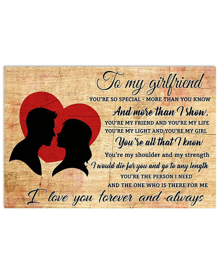 TO MY GIRLFRIEND- I LOVE YOU FOREVER AND ALWAYS 17x11 Poster