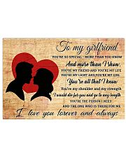 TO MY GIRLFRIEND- I LOVE YOU FOREVER AND ALWAYS 17x11 Poster front