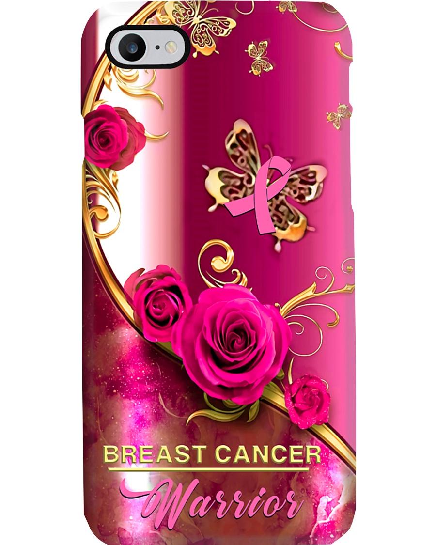 Breast Cancer Pink Rose Warrior Gold PC - SR Phone Case