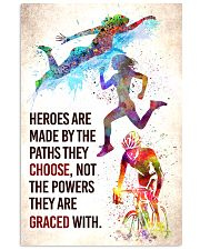 Triathlon - Heroes are made Poster SKY 11x17 Poster front