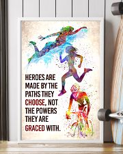 Triathlon - Heroes are made Poster SKY 11x17 Poster lifestyle-poster-4