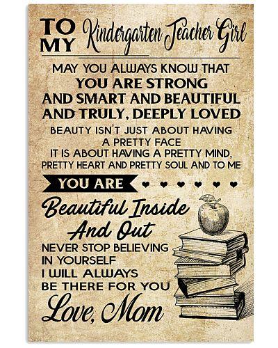 TO MY KINDERGARTEN TEACHER GIRL