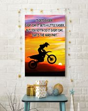 Motocross It Gets Easier Poster 11x17 Poster lifestyle-holiday-poster-3