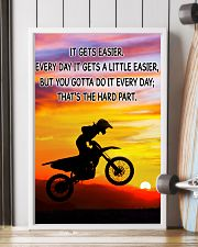 Motocross It Gets Easier Poster 11x17 Poster lifestyle-poster-4