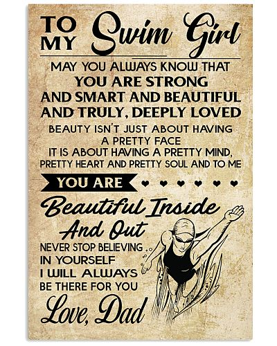 TO MY SWIM GIRL - DAD