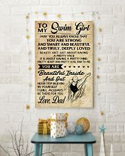 TO MY SWIM GIRL - DAD 16x24 Poster lifestyle-holiday-poster-3