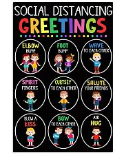 teacher - social distancing greetings poster - SR 11x17 Poster front
