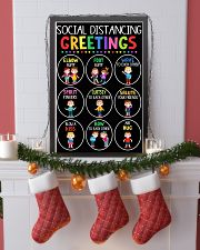 teacher - social distancing greetings poster - SR 11x17 Poster lifestyle-holiday-poster-4