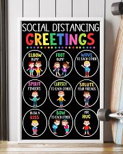 teacher - social distancing greetings poster - SR 11x17 Poster lifestyle-poster-4