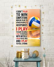 I DON'T PLAY TO WIN COMPETITIONS - VOLLEYBALL 11x17 Poster lifestyle-holiday-poster-3