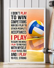 I DON'T PLAY TO WIN COMPETITIONS - VOLLEYBALL 11x17 Poster lifestyle-poster-4