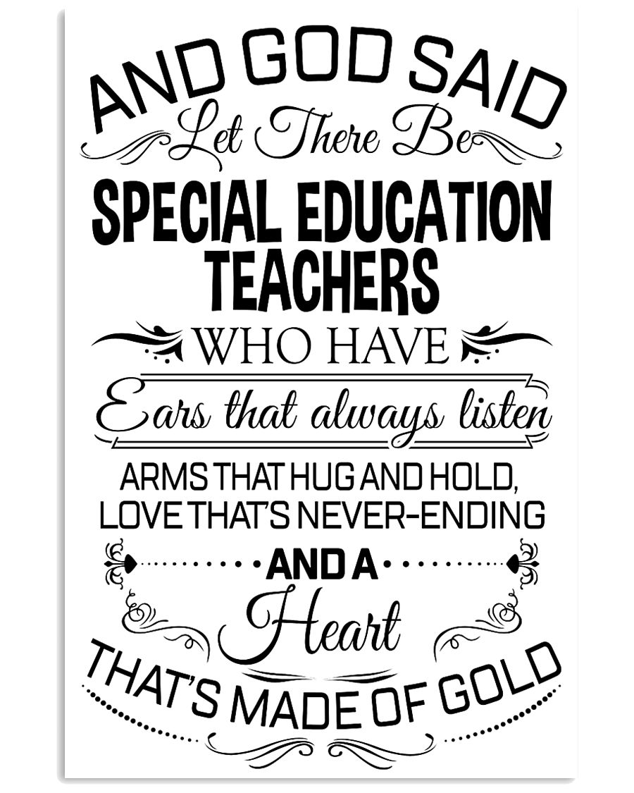 23- AND GOD SAID - SPECIAL EDUCATION TEACHERS POST 11x17 Poster