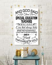 23- AND GOD SAID - SPECIAL EDUCATION TEACHERS POST 11x17 Poster lifestyle-holiday-poster-3