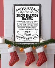 23- AND GOD SAID - SPECIAL EDUCATION TEACHERS POST 11x17 Poster lifestyle-holiday-poster-4
