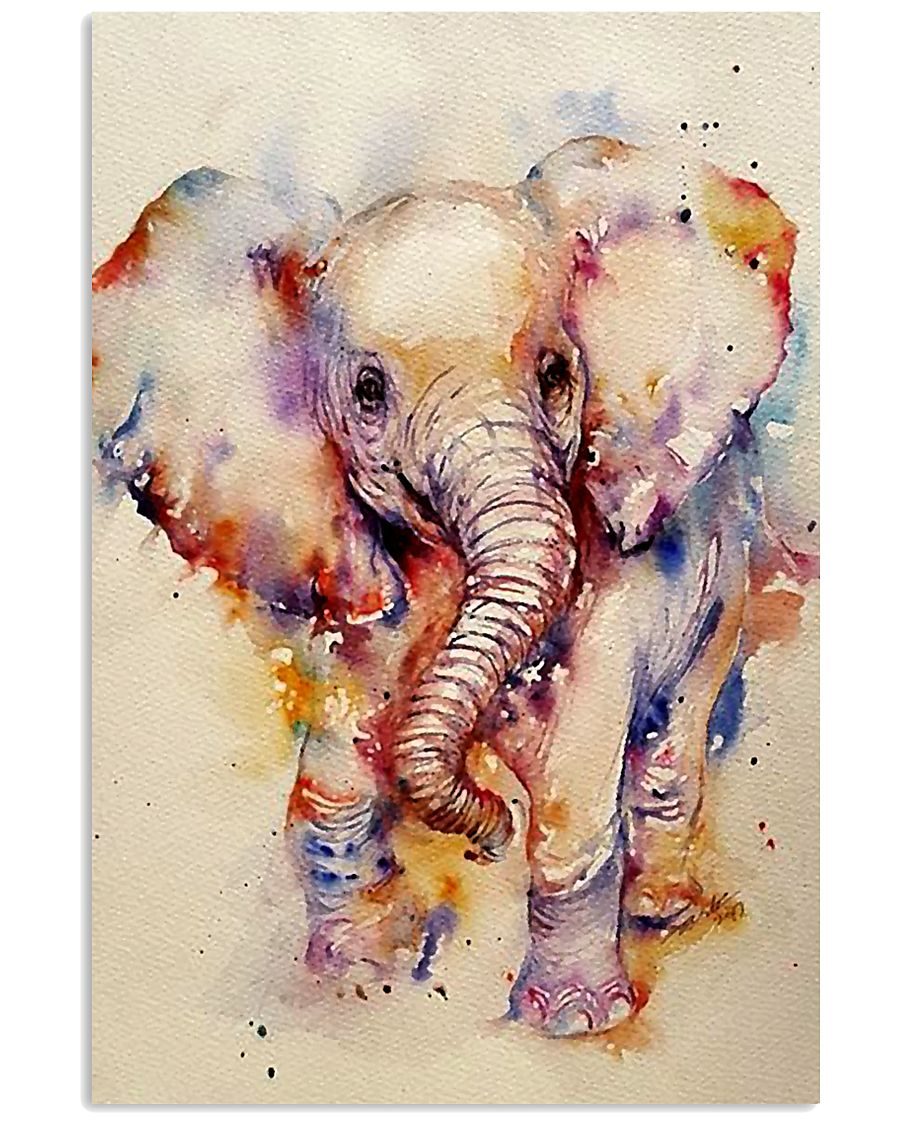 Baby Elephant Art Watercolor Poster SKY 16x24 Poster
