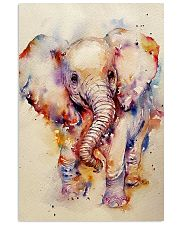 Baby Elephant Art Watercolor Poster SKY 16x24 Poster front