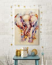 Baby Elephant Art Watercolor Poster SKY 16x24 Poster lifestyle-holiday-poster-3